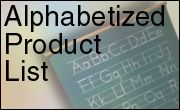 alphebetized product list