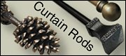 rustic curtain rods