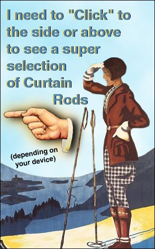 cabin curtain rods
