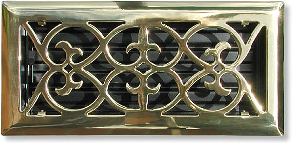summit style grille in polished brass